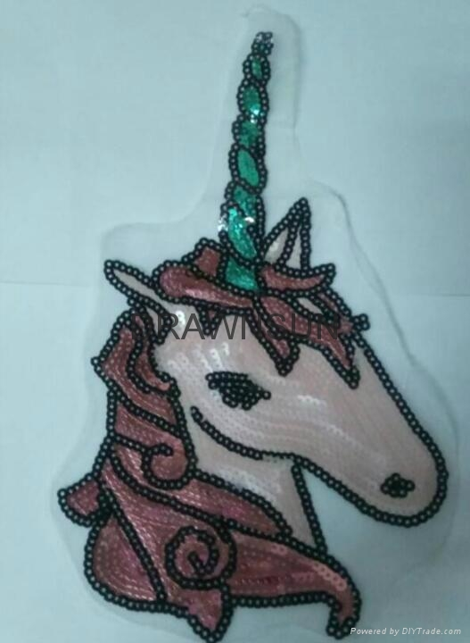Sequins Unicorn Sew On Patches For Clothes Jeans Embroidered Patch Motif Appliqu 2