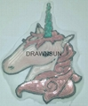 Sequins Unicorn Sew On Patches For Clothes Jeans Embroidered Patch Motif Appliqu 3