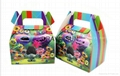 Candy Box Cake Box for Kids Trolls Theme Party Baby Shower Party Decoration