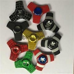 Cartoon Captains Design Fingertips Gyro Metal Spiderman Ironman Hulk Spinners