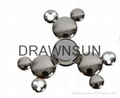 Mickey Shape Fidget HandSpinner Alloy Cartoon Spinning Top Gyro Toys Metal Finge 3