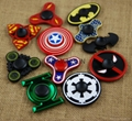 Batman Spiderman Flash Ironman Cartoons Tri-Spinner Fidget Hand Spinner Metal Fi