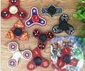 Batman Spiderman Flash Ironman Cartoons Tri-Spinner Fidget Hand Spinner Metal Fi