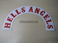 HELLS ANGELS AFFA NOMADS Custom Bottom Rocker Embroidery MC Patches
