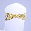 Spandex Lycra Wedding Chair Cover Sequin Sash Bands Wedding Decorations