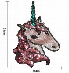 New Unicorn Sequins Horse Sequined