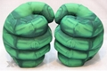 Fist Stuffed Plush Toys Children Cartoon Spiderman Hulk Stone Flash Pillow