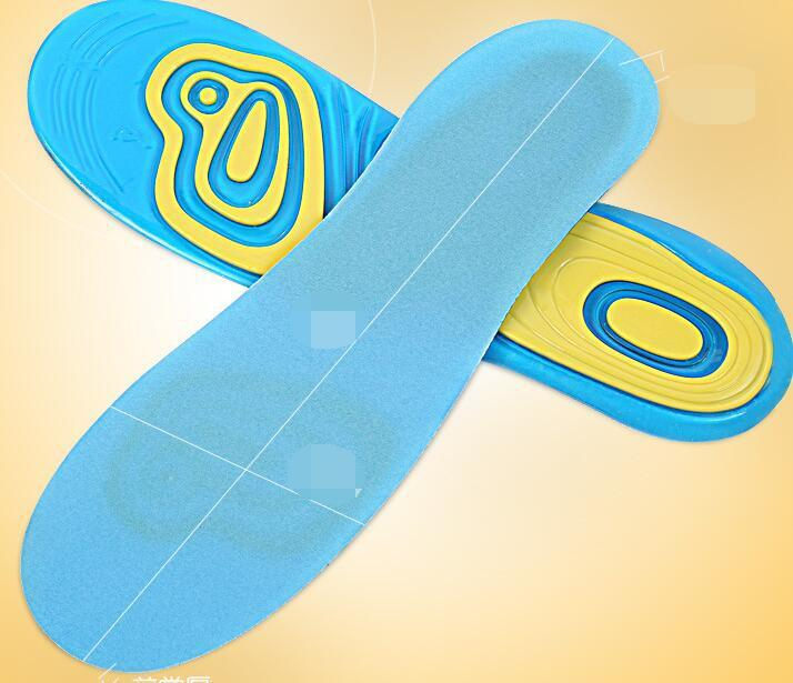 Silicone Gel Insoles Foot Care for Plantar Fasciitis Heel Spur Sport Shoe Pad  1
