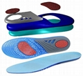 New Silicone Gel Insoles Orthopedic Massaging Shoe Inserts Shock Absorption Shoe 3