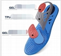 New Silicone Gel Insoles Orthopedic Massaging Shoe Inserts Shock Absorption Shoe 7