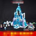 Girl Series Snow Queen Elsa Magic Ice Castle Palace DIY Set Model Building Kits