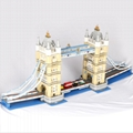 Lepin 17004 4295pcs/Set London Bridge Model Building Kits Brick Kids DIY Toys