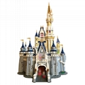 The Cinderella Princess Castle City Compatible Blocks Brick 4160pcs Model