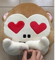 Monkey Cushion Pillow No See No Listen No Hear Smile Heart Kids Plush Toys
