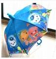 Summer new Children umbrella cartoon girls and boys long handle sunny and rainy