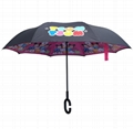 C Type Reverse Umbrella Double Layer Cartoon Kids Reverse Umbrella