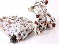 Ultralight Manual Umbrellas With Lovely Bear Rabbit Lattice Umbrellas 5 Folding