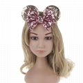 Children Hair Accessories Mickey Minnie Mouse Ears Headbands Birthday Party