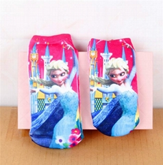 Elsa Moana Sofia Mickey Cars Princess Kids Socks Girls For 1-8Year