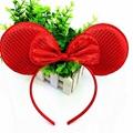 Mickey Ears Sequin Headband For Girls And Kids Glitter Metallic Dot Minnie Headb