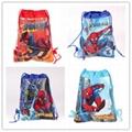 Cartoon String Bags Kids Birthday Gifts Bag Cartoon Mario Spiderman Elsa Anna