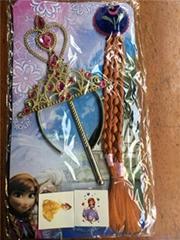 冰雪奇緣魔法棒套裝假髮魔法棒和皇冠