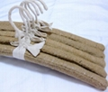38cm Adult Natural Burlap Hanger Clothes Wrap Clothes Hanger Shop Display Rack