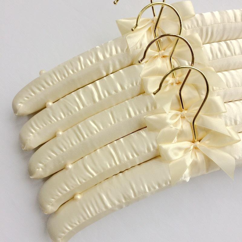 35cm Silk Hanger Imitation Gold Hook Cloth Hanger Cloth