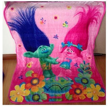 Trolls Poppy Branch Blanket Size 100*130cm Kids Fleece Blanket Kids Gifts 1