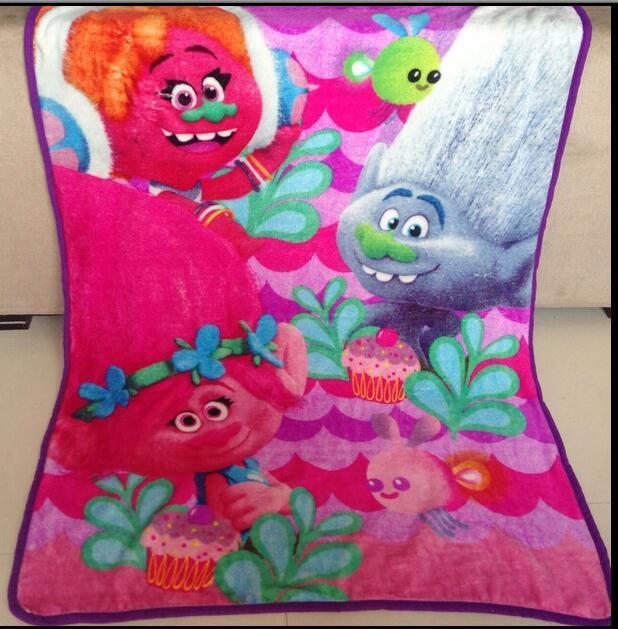 Trolls Poppy Branch Blanket Size 100*130cm Kids Fleece Blanket Kids Gifts 2