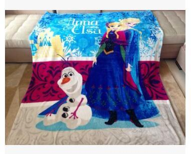 1.5x2M Princess Sofia Elsa Kitty Cars Spiderman Avengers Coral Fleece Blanket 5