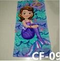 Cartoon Trolls Poppy Cotton Towels 75*150cm Baby Bath Towel Moana Sofia Elsa