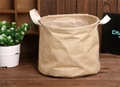 Laundry Hamper Clothes Storage Basket Kids Toy Organizer Jute Storage Zakka