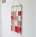 75*45CM Stripe Joining Together Storage Bag 13 Pockets Cotton & Linen Zakka bag