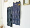 Useful Zakka Style 12Pockets Door Bag Home Organiser Storage Bag Cotton Linen