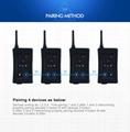 4Pcs Newest Football Referee Intercom Headset FBIM 1200M Full Duplex Bluetooth