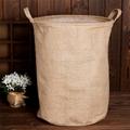 Laundry Hamper  Cotton Linen Laundry Hamper Bag Washing Clothes Organizer Basket