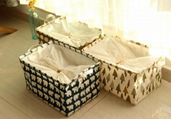 Cute Printing Folding Storage Bag Basket Organizer Kids Toys Storage Box