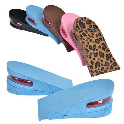 Height Increase Insole Adjustable 2-Layer 5CM Air Cushion Invisible Pads Insoles 1
