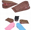 Height Increase Insole Adjustable 2-Layer 5CM Air Cushion Invisible Pads Insoles 10