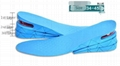 Air Cushion Height Increased Insoles For Men Women 1-4 Layers Stealth Adjustable