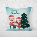 Christmas Cushion Cover Tree Santa Claus Pet Snowman Pillow Cute Throw Pillows