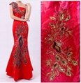 65*130cm large phoenix tail embroidery &