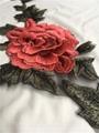 New 3D Rose Flowers 50*25cm Red Pink Blue Brown Purple Dress Appliques