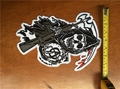 11pcs/Set Blue Sons of Iron On Patches For Vest Jacket Biker Anarchy Patches