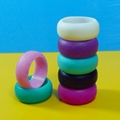 Personality Luminous Ring Multi Color Hypoallergenic Crossfit Silicone Rubber