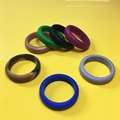 New Trendy Rings Jewelry Lady Ring Band Hypoallergenic Crossfit Flexible Silicon