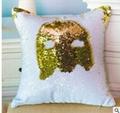 DIY Mermaid Sequin Cushion Cover 40cmX40cm Magical Pink Throw Pillowcase Covers