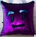 DIY Mermaid Sequin Cushion Cover 40cmX40cm Magical Pink Throw Pillowcase Covers