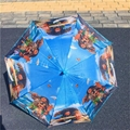Children umbrella cartoon paw Moana Elsa Kids long handle sunny and rainy